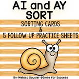 Long A Vowel Teams -AI and AY | Sort : )