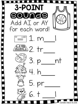 AI and AY Vowel Team Activities & Interactive Notebook Pack