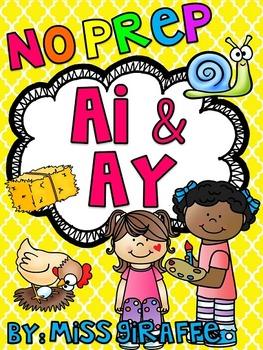 AI AY Worksheets and Activities {NO PREP!}