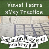 AI and AY (pain, stay) Vowel Team Practice