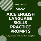AICE English Language 9093 Skills Practice Prompts