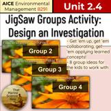 AICE Environmental   JigSaw - Design a Study - 8 Different