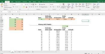 AICE History grade converter