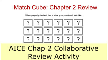 AICE Marine Science Chapter 2 match cube review game with PPT answer check