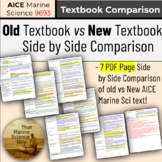 AICE AS Marine Science New Text vs. Old Text Side by Side Curriculum Comparison