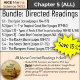 AICE Marine Science Textbook Worksheet Bundle: Directed Re