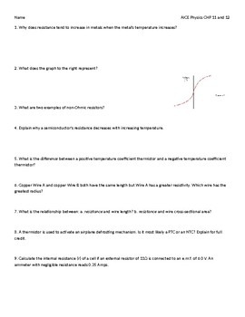 AICE Physics Test - Thermistors