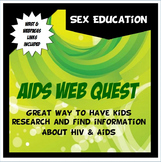 AIDS Web Quest: Guided HIV/AIDS internet research for Sex Education