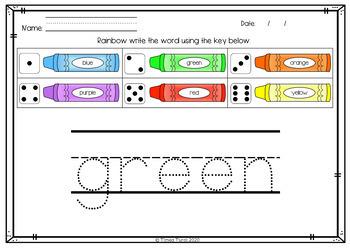 AIJOAIEEEOR Rainbow Writing Pages