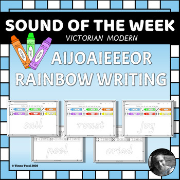 AIJOAIEEEOR Rainbow Writing Pages -- Victorian Modern