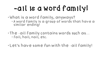 AIL word family activities!