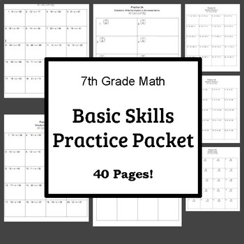 AIMS Computation Practice Packet-Basic Skills 7th Grade
