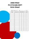 AIMS Web+ First Grade MOY Data Sheet