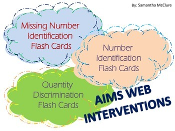 AIMSWEB: Flash Card Intervention Bundle