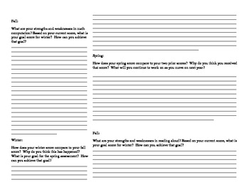 AIMSweb Graphing & Reflection Sheets