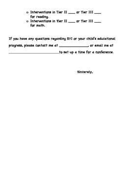 AIMSweb Intervention Letter