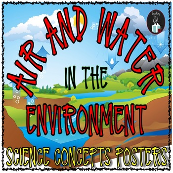 AIR AND WATER IN THE ENVIRONMENT Science Concepts Posters