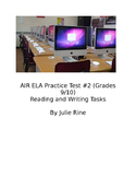 AIR ELA Practice Test #2:Is College Worth It? (Reading and