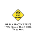 AIR ELA Practice Tests: Three Test Bundle (Grades 9/10)
