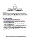 AIR ELA Test Prep: Grade 10 Informational Text Pair Questions