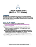 AIR ELA Test Prep: Grade 10 Informational Text Pair Questions