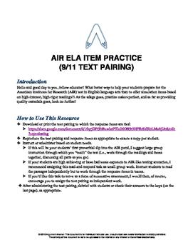 AIR ELA Test Prep: Grade 9 Informational Text Pair Questions