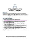 AIR ELA Test Prep: Grade 9 Informational Text Pair Questions