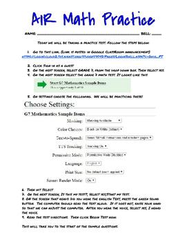 AIR Math Practice 7th Grade