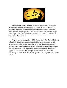 AIR Ohio Assessment Gr. 3- informational writing pratice using Halloween topic