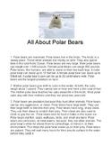 AIR/PARCC Test Prep: Questions & writing prompt for nonfiction text: Polar Bear