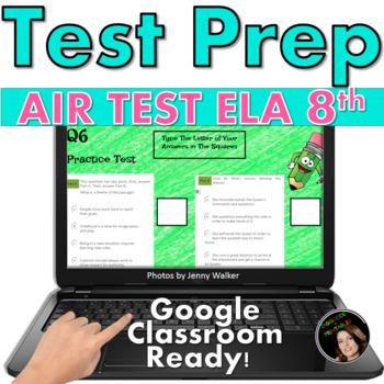 AIR TEST PREP: ELA Digital, Paperless Google Slides