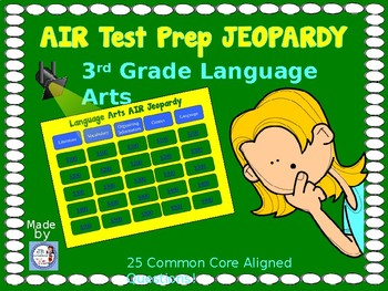air test prep 3rd grade language arts jeopardy game by jb creations