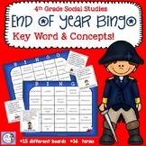 End of Year 4th Grade Social Studies Bingo!