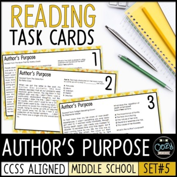AIR Test Prep Author's Purpose Task Cards (Ohio)