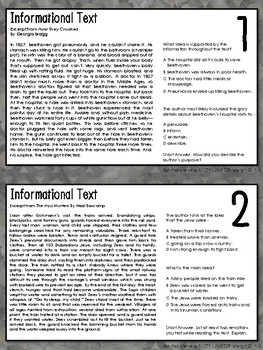 AIR Test Prep Informational Text Task Cards (Ohio)