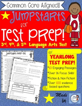 AIR Test Prep Language Arts Jumpstarts for 3rd, 4th, 5th grade