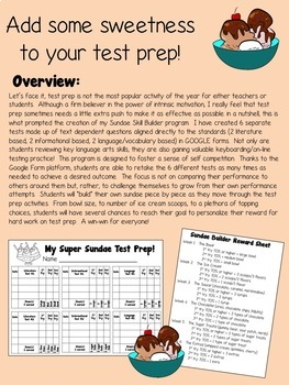 AIR Test Prep Language Arts Super Sundae Bundle (using Google Forms!)