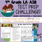 4th Grade AIR Test Prep Language Arts CHALLENGE (using Google Forms!)