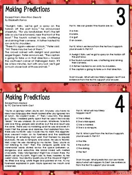 AIR Test Prep Making Predictions Task Cards (Ohio)