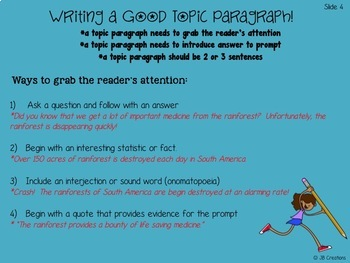 Test Prep: Writing a Multi Paragraph Essay (aligned to the AIR test)