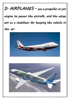 AIR Vehicles Flashcard