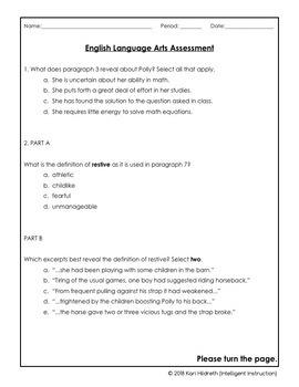 AIR Test Prep / PARCC Test Prep: 5th-6th Grade ELA Fiction Mini-Practice Test!