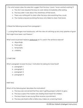 AIR or PARCC Test Prep: 7th Grade ELA (English Language Arts) Practice Test!