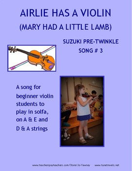 AIRLIE HAS A VIOLIN (Mary had a little lamb)