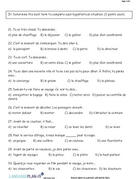 AIRPORT AND HOTEL TEST (FRENCH)