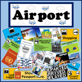 AIRPORT ROLE PLAY TEACHING RESOURCES LITERACY DISPLAY GEOGRAPHY WO