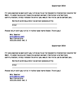 AIS Introductory Letter - Editable