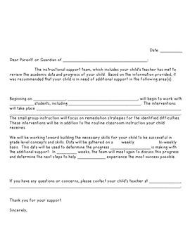 AIS/RtI Parent Communication
