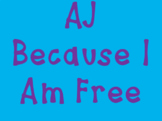 AJ Because I Am Free Font: For Personal Use
