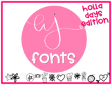 AJ Fonts-  Holla Days (Holiday)  Themed Fonts